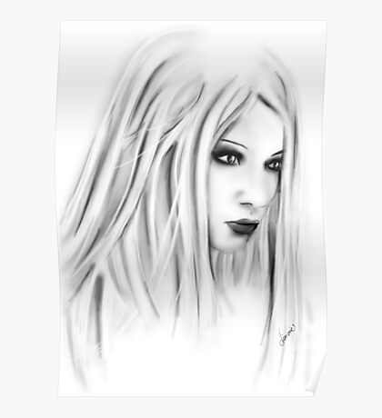 Lilith on white Poster