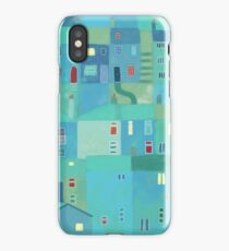Blue town from the steps iPhone Case