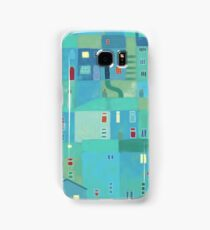 Blue town from the steps Samsung Galaxy Case/Skin