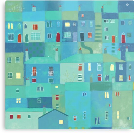 Blue town from the steps by Nic Squirrell