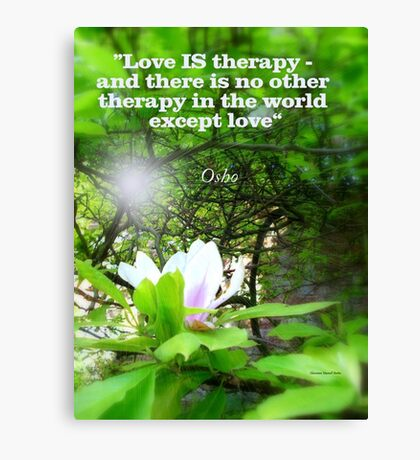 Love is Therapy Canvas Print