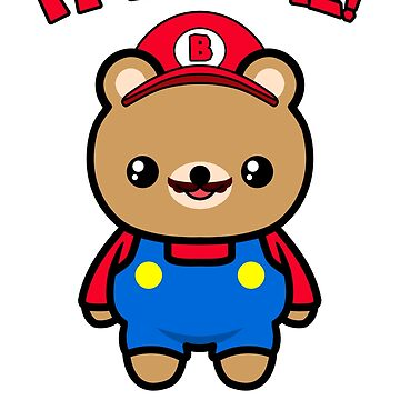 Cute Bear Funny Kawaii Mario Parody by awesomekawaii