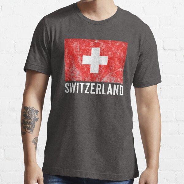 Switzerland Flag Distressed Vintage Swiss Souvenir Essential T-Shirt