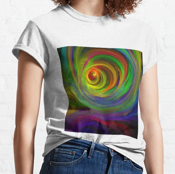 Madman's Sunrise - Apophysis Fractal Flame Classic T-Shirt