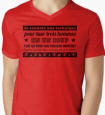 Camiseta para hombre de cuello en v Kaamelott - Perceval (negro)