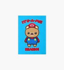 Bear Cute Funny Kawaii Mario Parody Art Board