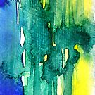Abstract Watercolour I by Kathie Nichols