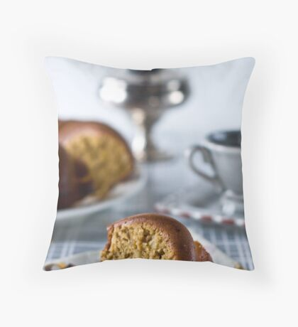 Coffee is served Throw Pillow