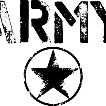 Vintage US Army Cool T-shirt by artbaggage