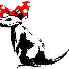"""Banksy - """"Hübsche Ratte"""" von streetartfans"""