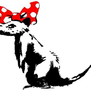 "Banksy - ""Pretty Rat"" by streetartfans"