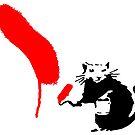 "Banksy - ""Rattenmalerei rot"" von streetartfans"