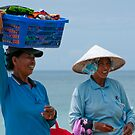 Hawkers at the Beach 2 by Werner Padarin