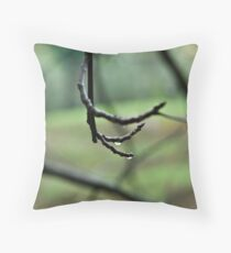 Lines on green Throw Pillow
