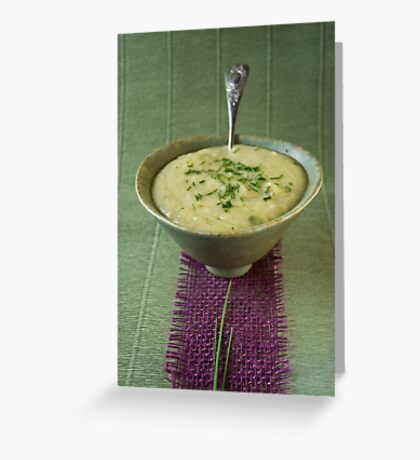Leek and potato soup Greeting Card