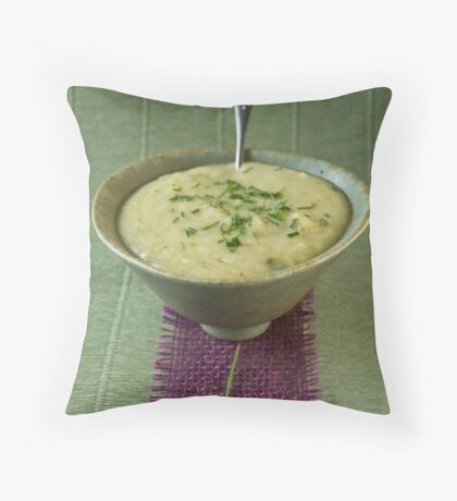Leek and potato soup Throw Pillow