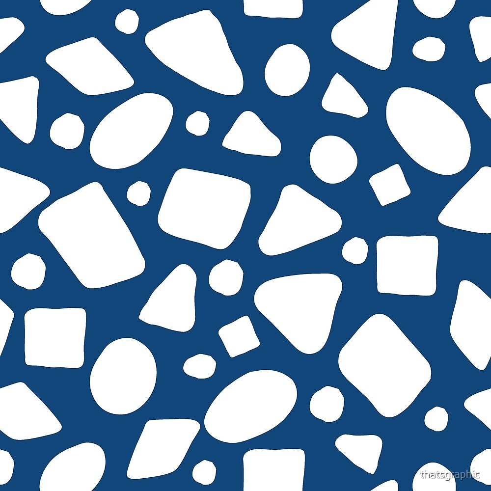 Blue and White geometric shapes by thatsgraphic