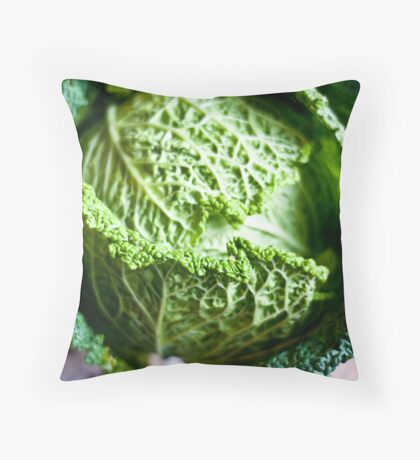 Savoy cabbage Throw Pillow