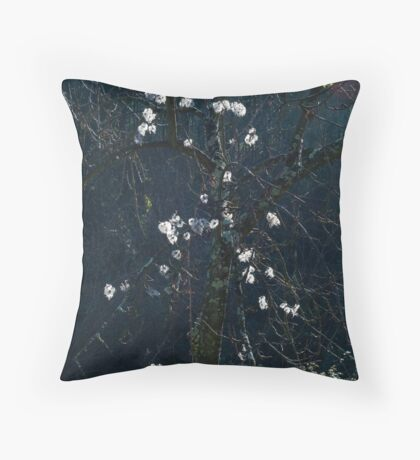 Blue light Throw Pillow