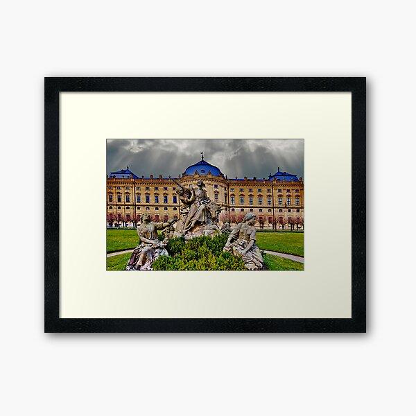 Prince Bishops Palace Wurzburg Germany Framed Art Print