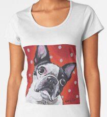 Boston Terrier Art, Cute Boston Terrier Women's Premium T-Shirt