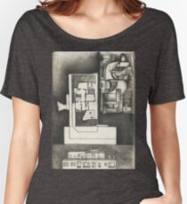 Architectural shapes on a black background Women's Relaxed Fit T-Shirt