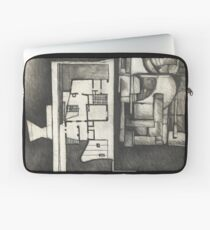 Architectural shapes on a black background Laptop Sleeve