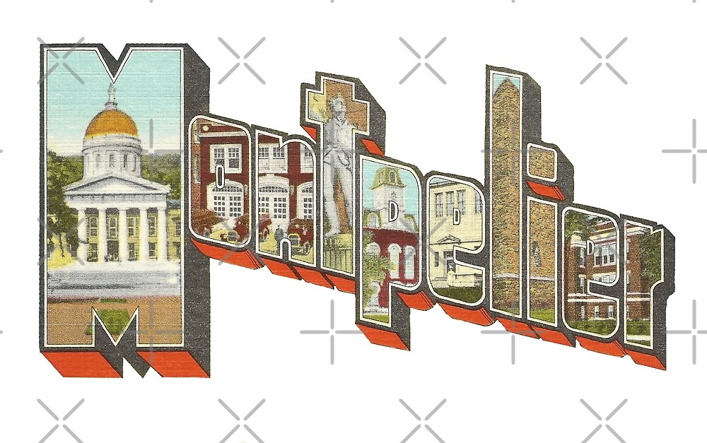 Vintage Large Letter Montpelier Vermont by Colleen Cornelius