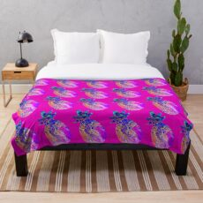 Pink Pineapple Party Throw Blanket