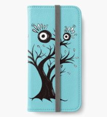 Excited Tree Monster Ink Drawing iPhone Wallet/Case/Skin