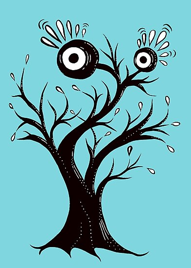 Weird Tree Monster Is Excited by Boriana Giormova