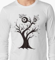 Excited Tree Monster Ink Drawing Long Sleeve T-Shirt