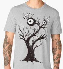 Excited Tree Monster Ink Drawing Men's Premium T-Shirt