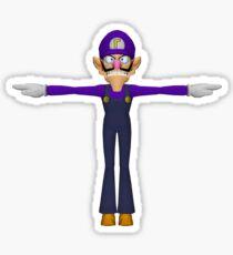 Waluigi T-pose  Sticker
