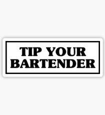 Tippe deinen Barkeeper Sticker