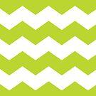 Lime Green Chevron Print by itsjensworld