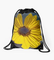 Big Yellow Flower Drawstring Bag