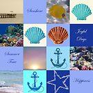 Summer Beach House Collage by hurmerinta