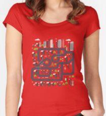 Urban landscape Women's Fitted Scoop T-Shirt