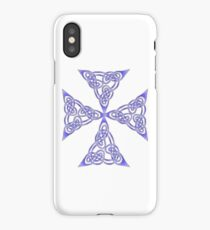 Lindisfarne St Johns Knot Tattoo In Lilac iPhone Case