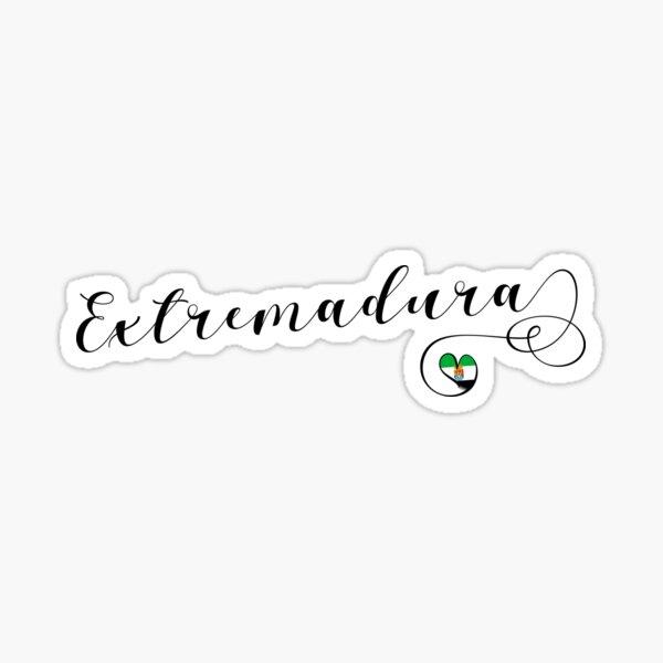 Bandera Extremadura Corazón, Estremaúra, España Pegatina