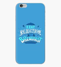 I Eat Rejection For Breakfast - Blue iPhone Case