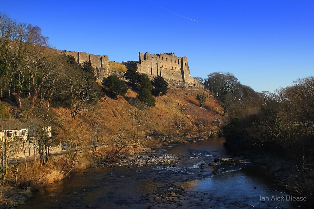 Richmond Castle high above the River Swale, England by Ian Alex Blease