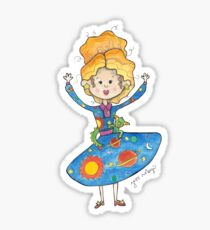 Mrs. Frizzle Sticker