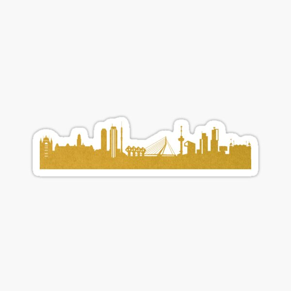 Golden Rotterdam Sticker