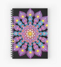 Purple Dot Mandala - Art&Deco By Natasha Spiral Notebook
