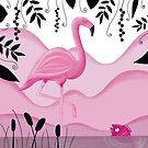 Pink Flamingo von WACHtraum