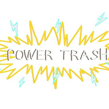 POWER TRASH - KAPITÄN SPIRIT T-SHIRT von AmyMor