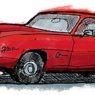 Car RED by Jorge Antunes