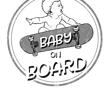 New Parents Having a Baby on Board Skater Kid by Intune